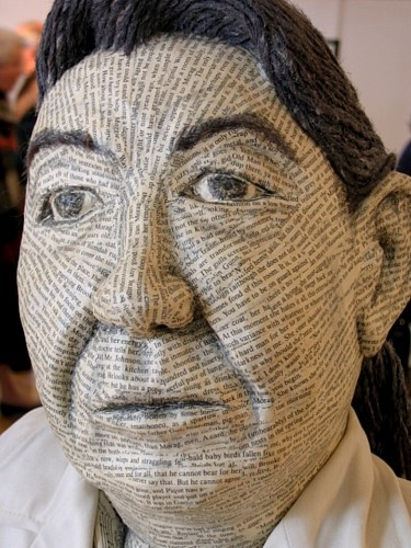 Margaret Laurence Bust Canadian author These incredible busts were made of their own words.