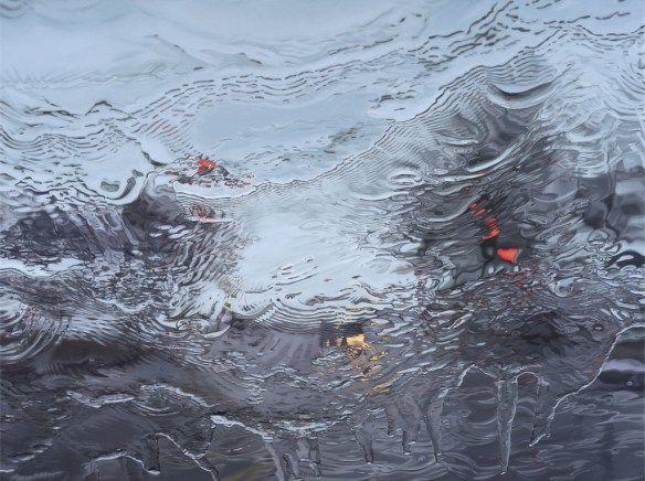Studio Visit: Gregory Thielker's Paintings of Roads Through Rainy Car Windows | Hi-Fructose Magazine