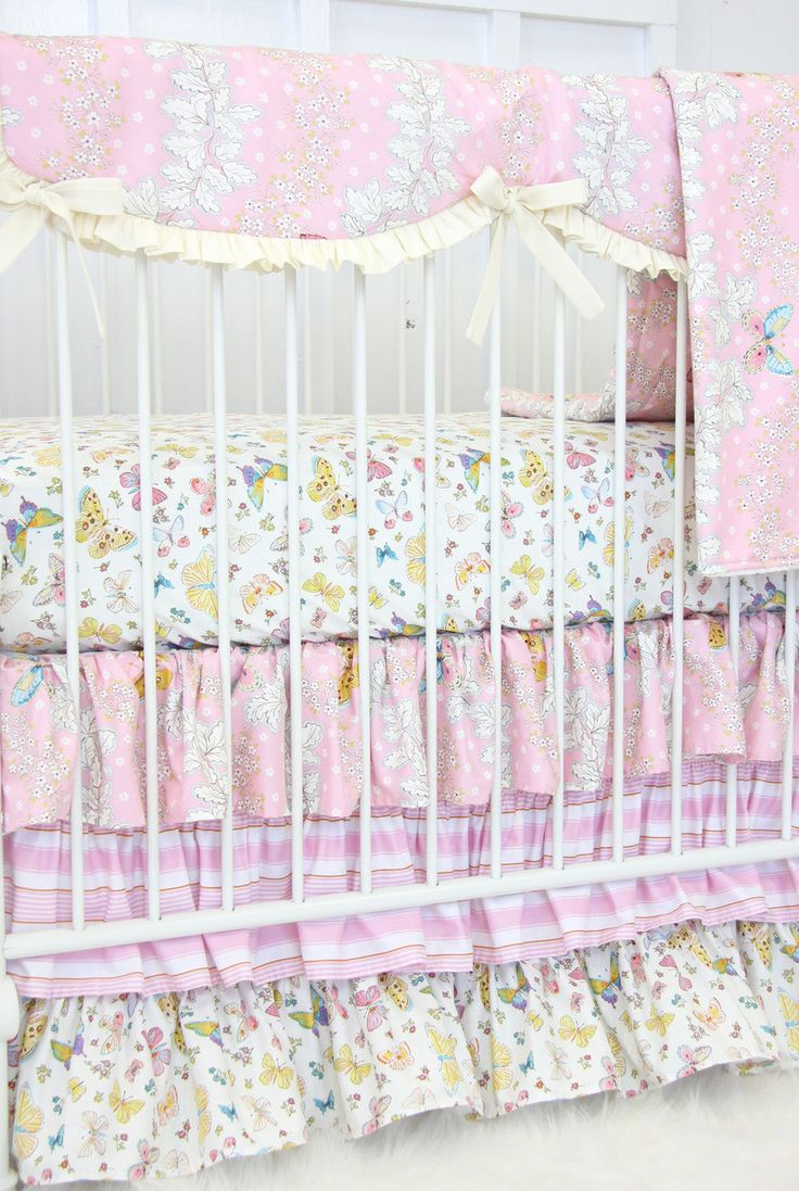 Gocrib adventure crib for sale - Brooklyn S Butterfly Bumperless Crib Bedding