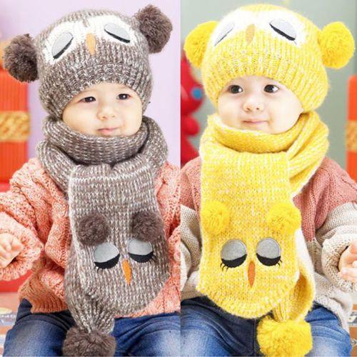 Hot-Selling-set-Winter-Baby-Toddler-Boy-Girl-Kids-Warm-Hat-Cap-Scarf
