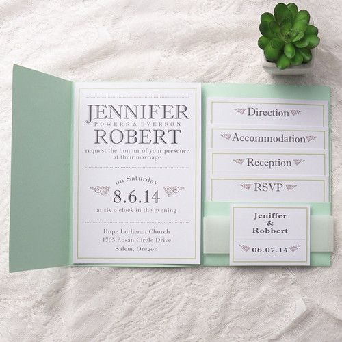 wedding invitations pocket
