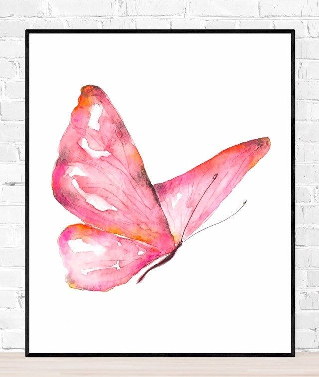 Pink and Red Watercolour on paper Original Artwork Friends Small faces
