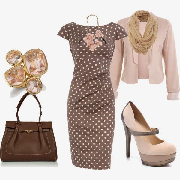 Classy Outfit: Polka Dot Outfit, Classy Work Outfits, Outfits 2014, Elegant Outfit, Stylish Outfits, Cute Outfits, Outfits Polka, Outfits I, Classy Outfits Lov