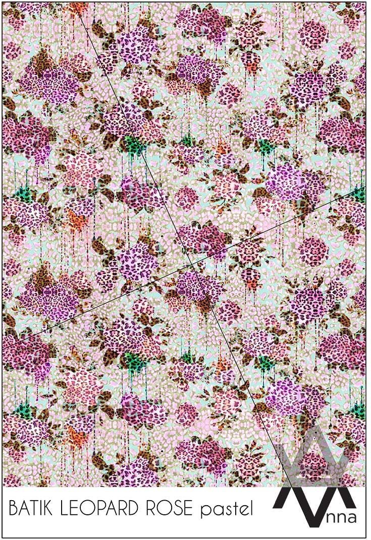 BATIK LEOPARD ROSE pastel