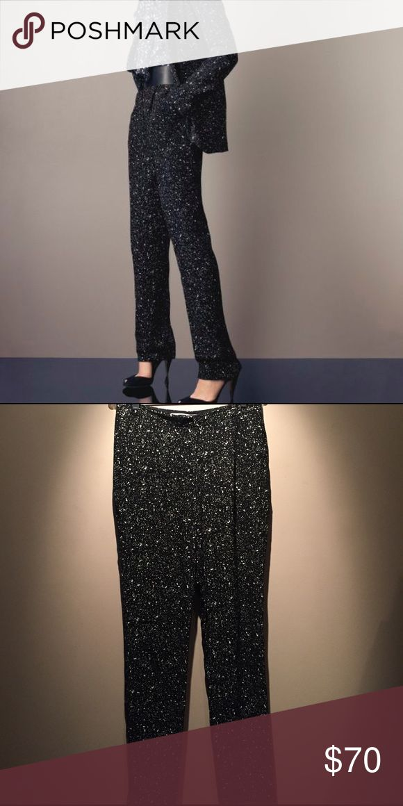 DVF Martine Galaxy pants DVF Pants in great condition. Only flaw is the hem on one leg has come undone a little. They were too long and I had them hemmed so they can be taken down to original hem. Size 6. Diane von Furstenberg Pants Trousers