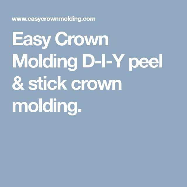 Easy Crown Molding D-I-Y peel & stick crown molding.