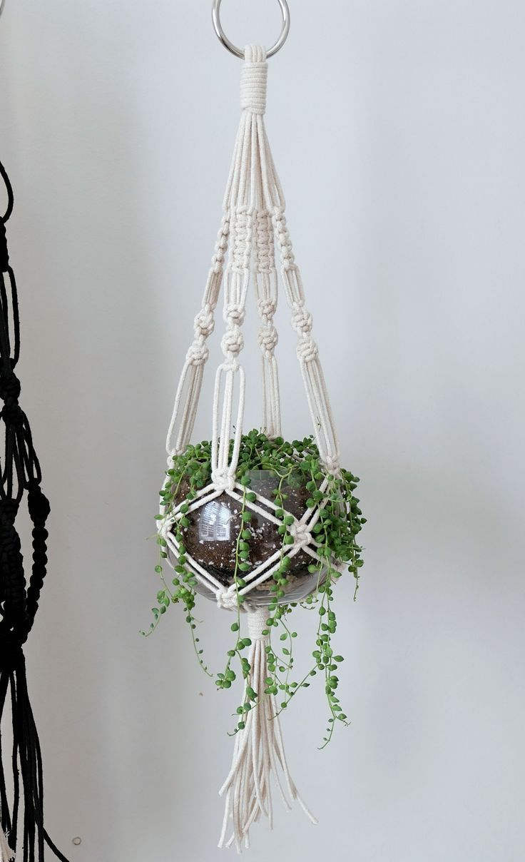 Cotton Macrame Plant Hanger! – Marie Mineault – Makramee – #Cotton #Hanger #Macr…