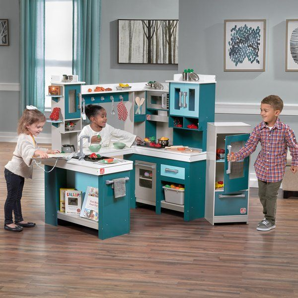 Grand Walk Wood Kitchen Set Kids Play
