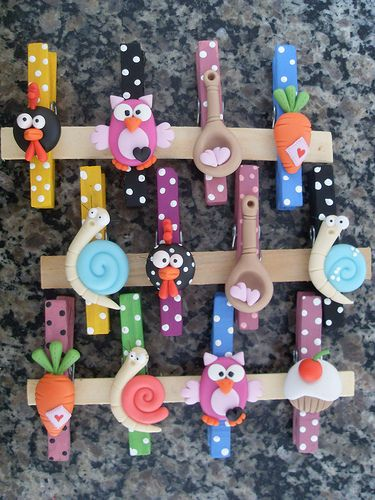 these would be cute with magnets glued on the back of the clothespins