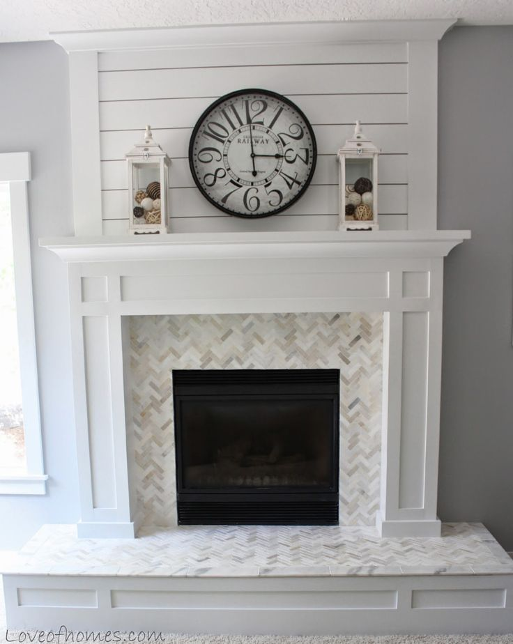 Best 25+ Tile around fireplace ideas on Pinterest   White mantle ...