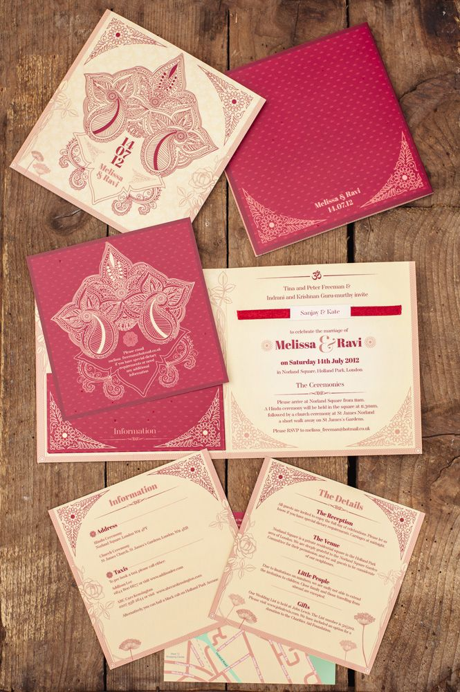 Heritage Fusion Wedding Invitation Stationery by Paperknots