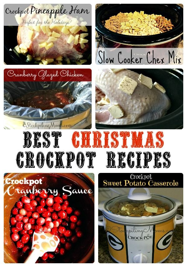 Best Christmas Crockpot Recipes to make this season in your slow cookers!