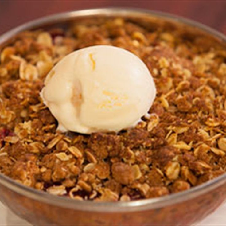 Try this Rhubarb, Apple and Raspberry Crumble recipe by Chef Justine Schofield . This recipe is from the show Everyday Gourmet.