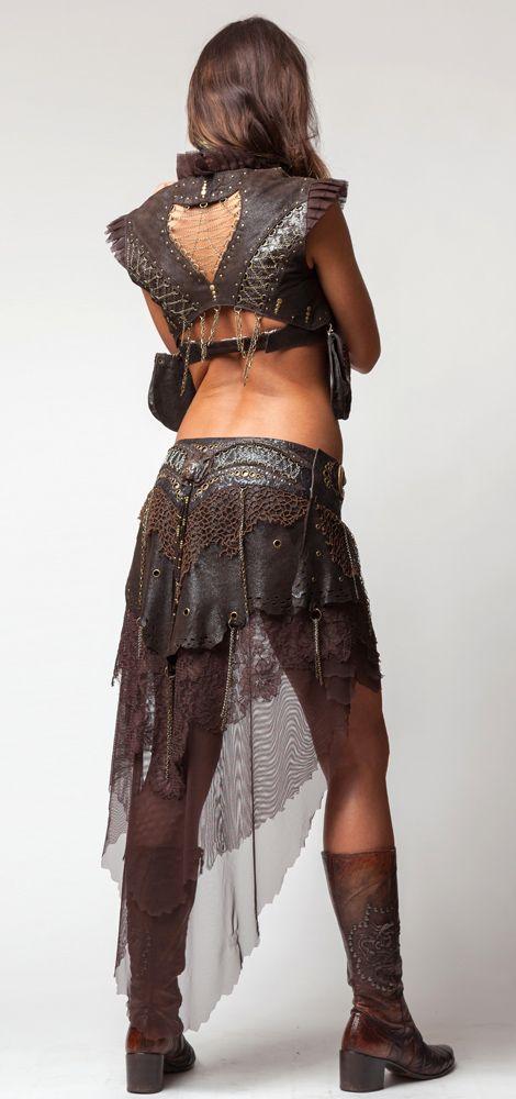 Long Lace Skirt- Dark Brown [GV63-Dk-Brn] - $449.00 : Crystal Tara, Visionary Art T-shirts and Clothing
