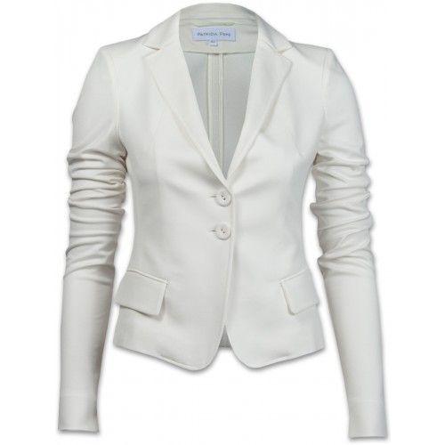 Perfect Fit:  In strahlendem Weiß und weicher Viskose überzeugt dieses  gute Stück vom Luxuslabel PATRIZIA PEPE.