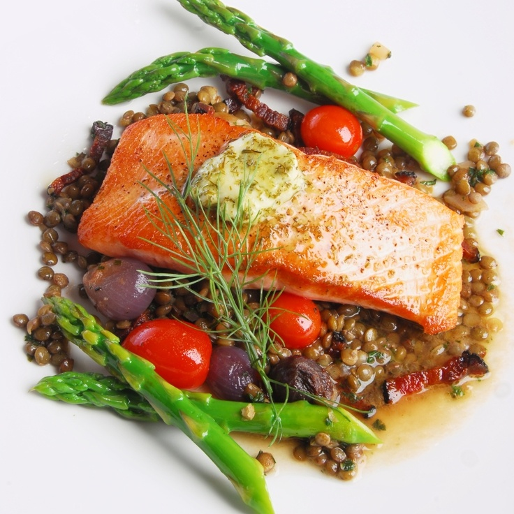Salmon Provencal from Simple Treasures Cookbook. Rocky Mountain Cuisine.
