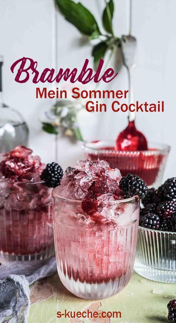 Bramble – Mein Sommer Gin Cocktail aus Brombeeren, Gin und Zitrone