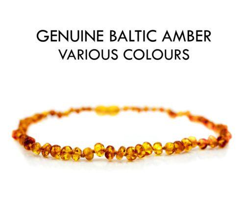 Baby-Teething-Amber-Necklace-Bracelet-Anklet-Genuine-Natural-Baltic-Beads  #teething #amber #teethingremedies #teethingremedy #amberjewelry