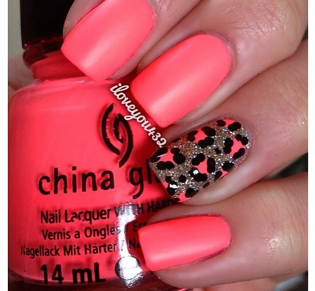 Girls Nail DesignCheetahs Nails Nails Art Accent Nails Nails Design