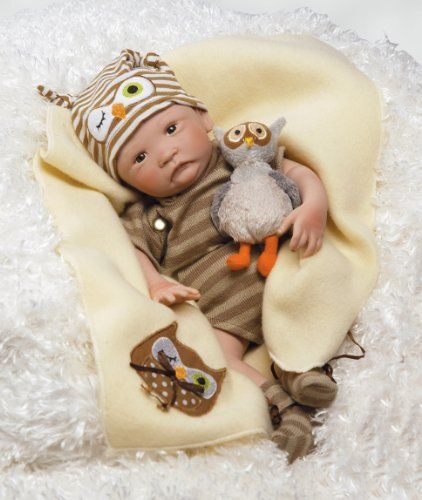 Paradise Galleries Hoot! Hoot! Baby Doll that Looks like a Realistic Baby, 16 inch vinyl