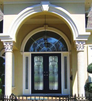 Arch Radius Transom Above Front Door Front Door And Top