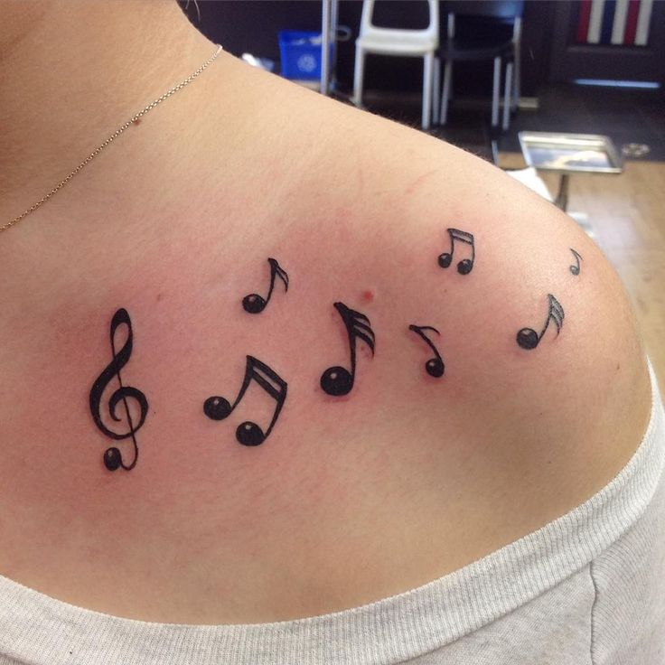 17 Best Small Music Note Tattoos Images On Pinterest