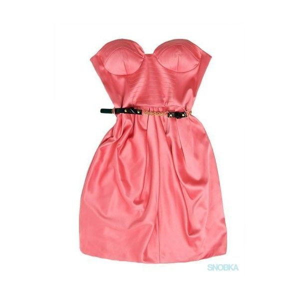 SNOBKA – Sukienka River Island ❤ liked on Polyvore featuring dresses, vestidos, pink, sukienki, red dress, pink red dress, river island, river island dresses and pink dress