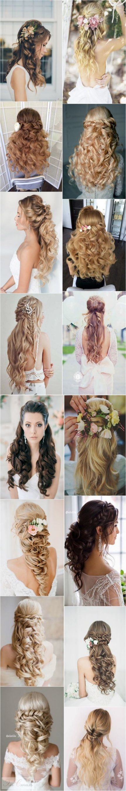 Hair Kinds Half Up Half Down Tutorial Wedding ceremony 44 Concepts For 2019