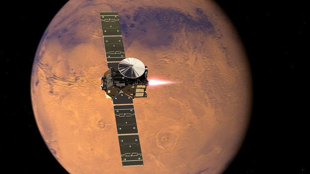 ExoMars TGO reaches Mars orbit while EDM situation under assessment / ExoMars / Space Science / Our Activities / ESA