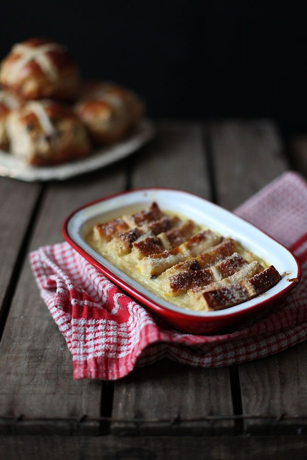 Miss Foodwise | Celebrating British food and culture: Hot Cross Bun and Butter Pudding - Happy birthday to me ...