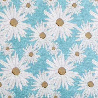 Daisy Print Fabric Aquamarine 120 cm