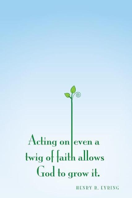 Faith is like a little seed....