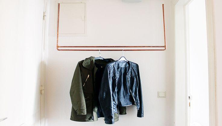 kleiderst nder selber bauen die h ngende kleiderstange war and diy and crafts. Black Bedroom Furniture Sets. Home Design Ideas
