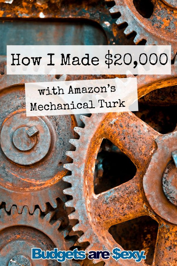 Side hustle story: How Michael made $20,000 with Amazon's Mechanical Turk. Lots of sites claim that you can make extra money online, but either they pay ridiculously low wages for the time spent, rarely have any work that fits your demographic, or will only pay you in gift cards or some other type of credit instead of cash. Amazon Mechanical Turk is different. Here's how Michael uses it to make money from home. http://www.budgetsaresexy.com/2016/03/make-money-amazon-mechanical-turk/