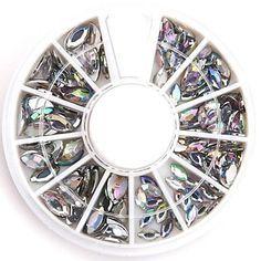 tamanhos mistos claras nail art oval strass acrílico cristal de diamante reluzente falso para design de unhas – EUR € 1.89