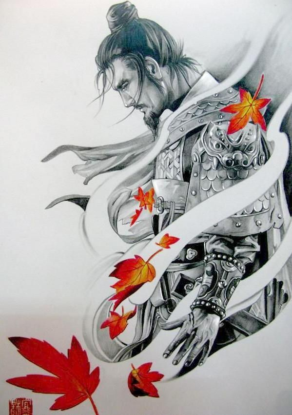 Samurai tattoo design ideen