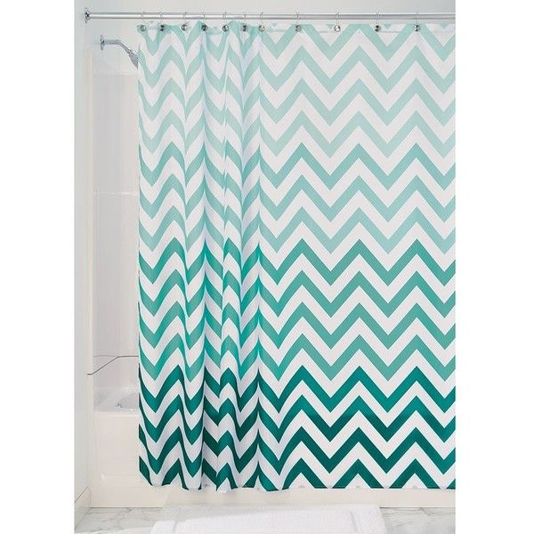 """InterDesign Chevron Soft Fabric Shower Curtain, 72"""" x 72 Navy/Burnt... ($19) ❤ liked on Polyvore featuring home, bed & bath, bath, shower curtains, zig zag shower curtains, chevron shower curtains, navy shower curtains, navy blue shower curtains and fabric shower curtains"""