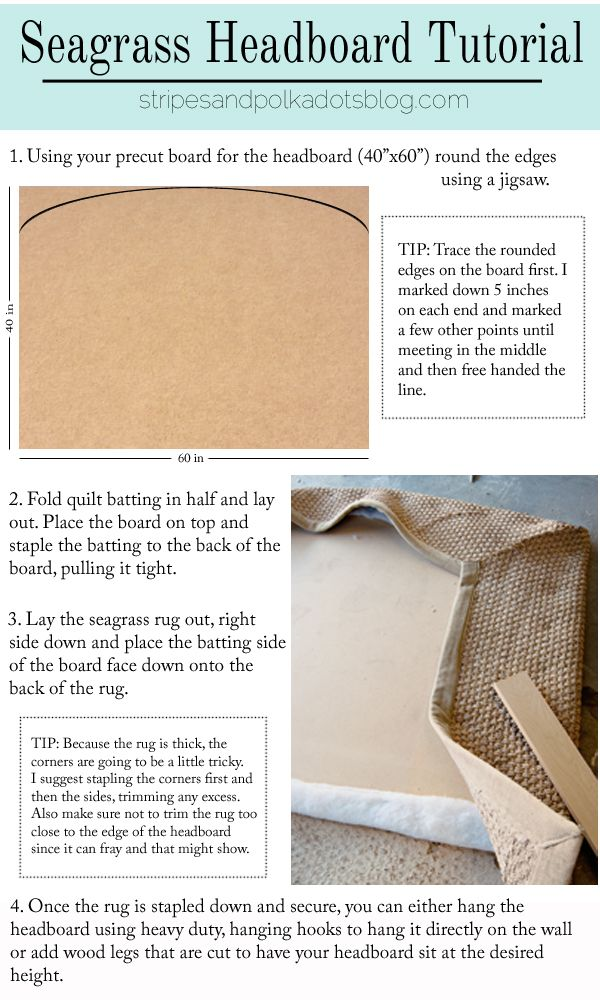 Pottery Barn Knock-Off: Seagrass Headboard