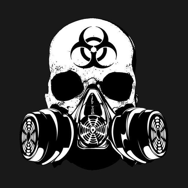 Check Out This Awesome Biohazard Zombie Skull Design On Teepublic Ateepublic Awesome Biohazard Check Design In 2020 Gas Mask Art Skulls Drawing Skull Artwork