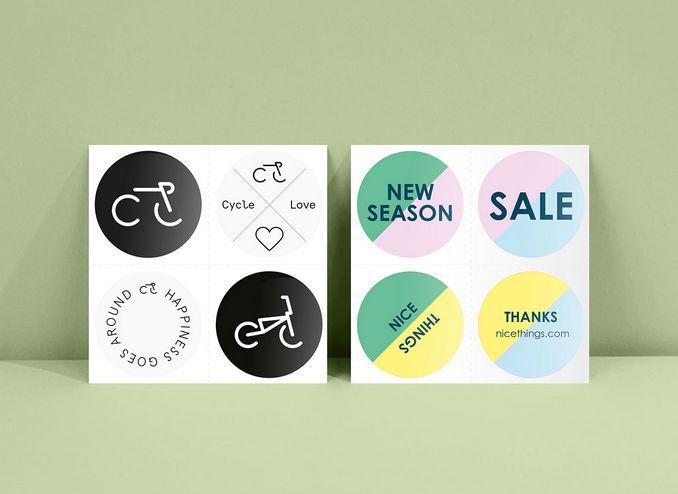 Moo custom round stickers