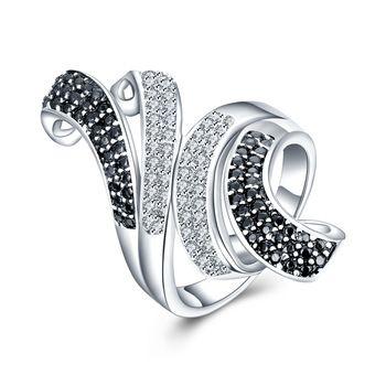 MDEAN Новый Белый Позолоченные Кольца для женщин обручальное CZ ювелирные изделия с бриллиантами старинные женщин обручальные кольца модные Аксессуары MSR807
