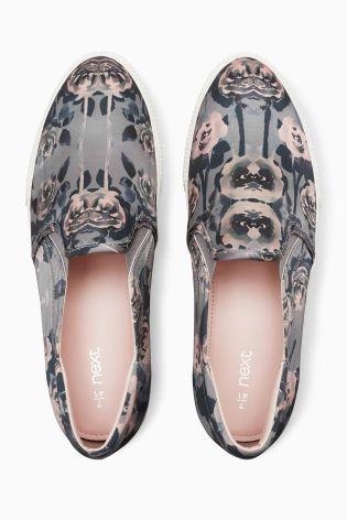 Розовые туфли без шнурков с цветочным рисунком - Покупайте прямо сейчас на сайте Next: Россия