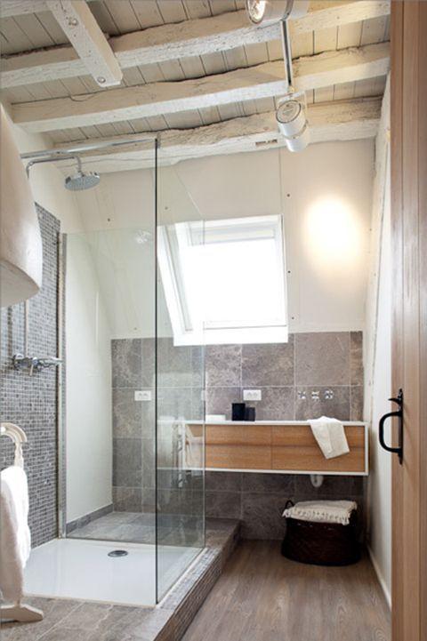 Rustic Modern Bathroom Landelijke Badkamers Pinterest
