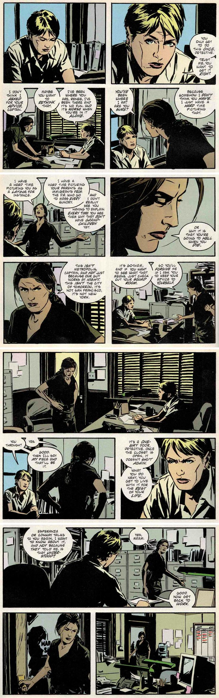 best images about renee montoya graphic novels gotham central half a life written by greg rucka art by michael