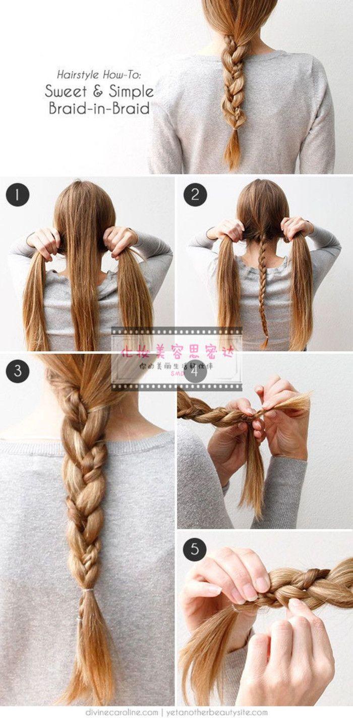 1-- [sencillo trenzado cabello trenzado universal, hermosa trenza cola de pez sagrado]