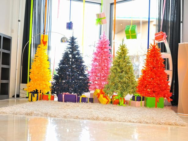 Crazy-Colored #Christmas Trees (http://blog.hgtv.com/design/2013/11/08/daily-delight-crazy-colored-christmas-trees/?soc=pinterest)Artificial Christmas, 2014 Christmas Trees, Christmas Colors, Painting Trees, Colors Christmas Trees, Christmas Trees Decor, Christmas Trees Ideas, Artificial Trees, Colors Trees