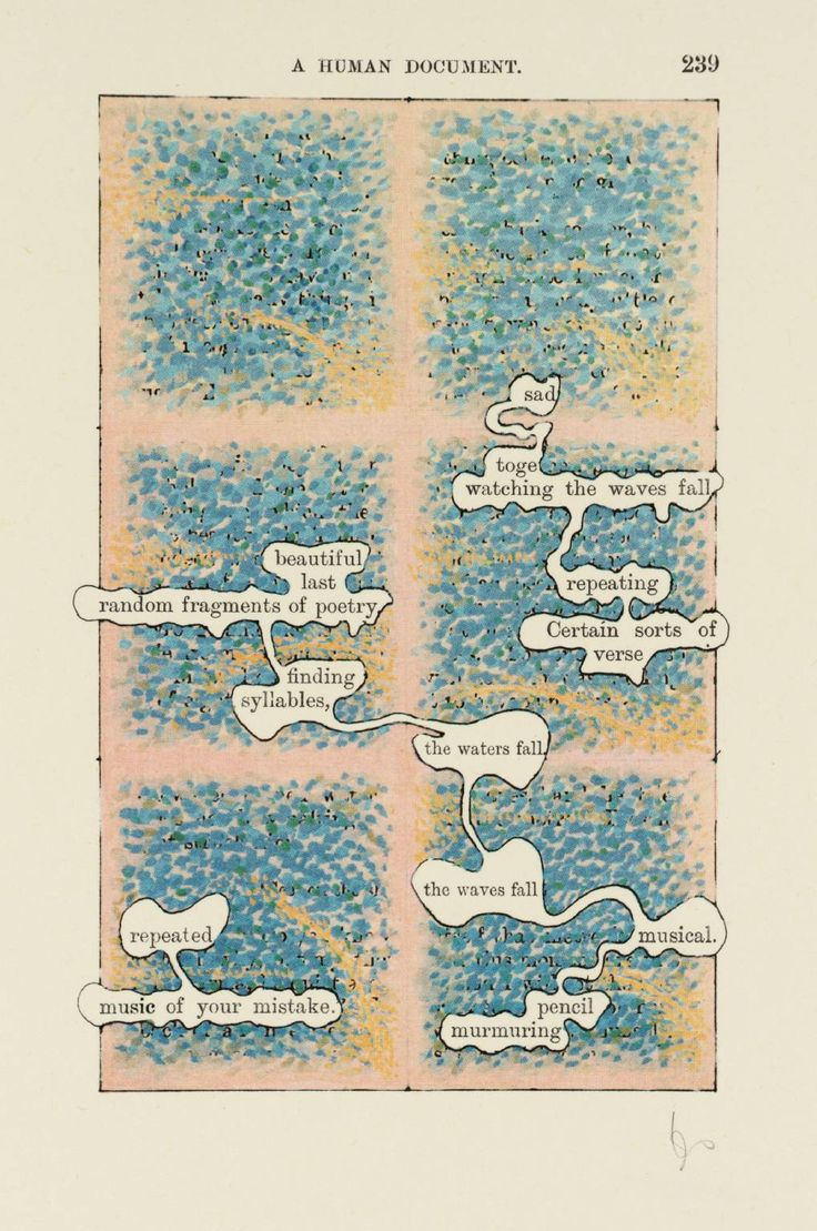 Tom Phillips ~ [no title: p. 239], From A Humument Vol. IV, 1970 (lithograph)