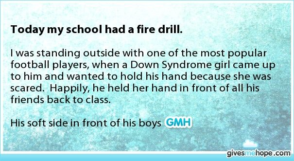 Random acts of kindness - Today my school had a fire drill.
