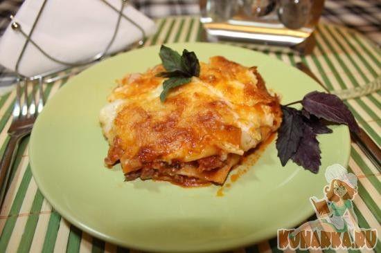 Рецепт: Лазанья с соусом Болоньезе, упрощенный вариант