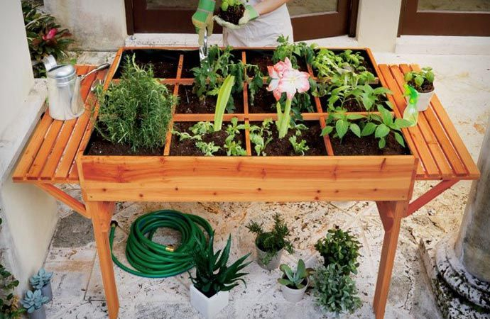 Natural Cedar Organic Garden Table is a great thing that will make gardening easy and fun